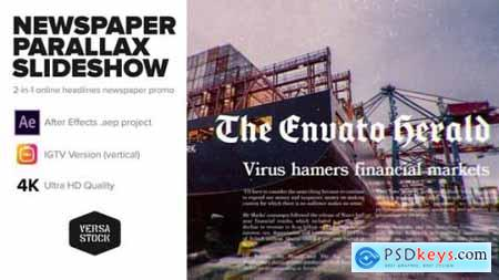 Newspaper Parallax Slideshow Promo 25869588
