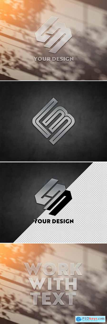 Logo on Wall Bathed in Sunlight Mockup 334802929