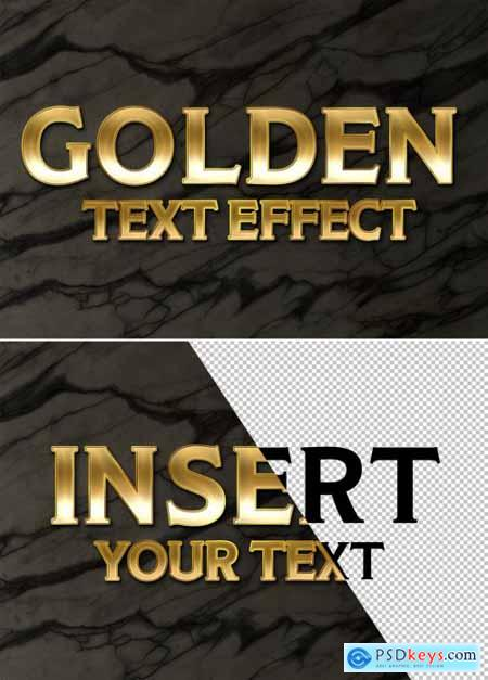 Gold Style Text Effect on Marble Background 334805436