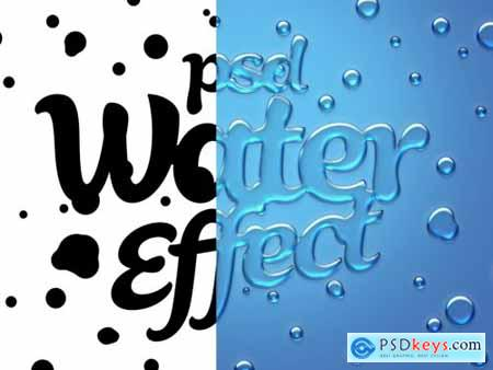 Realistic Water Text Effect Mockup 335070820