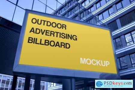 Urban billboard advertising logo mockup