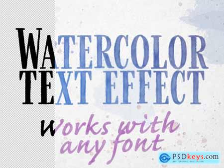 Watercolor Text Effect Mockup 335051179