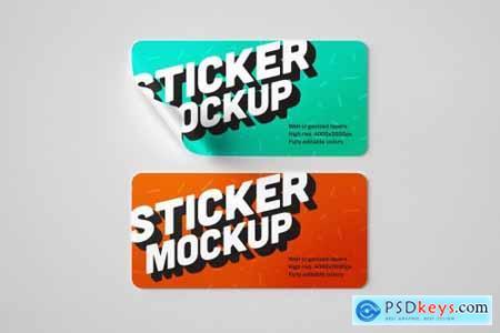 18 Styles Sticker Mockup Set 4753794