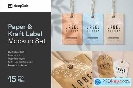 Paper & Kraft Label Mockup Set 4751578