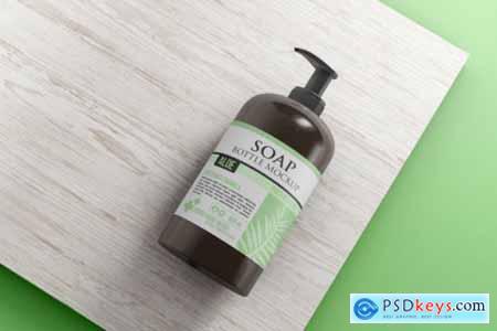 Liquid soap bottle mockup