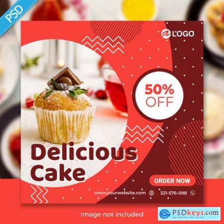 Food for social media instagram post banner template