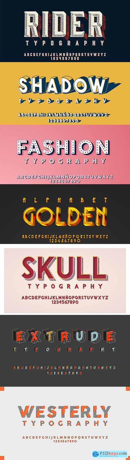 Futuristic alphabet editable font effect collection