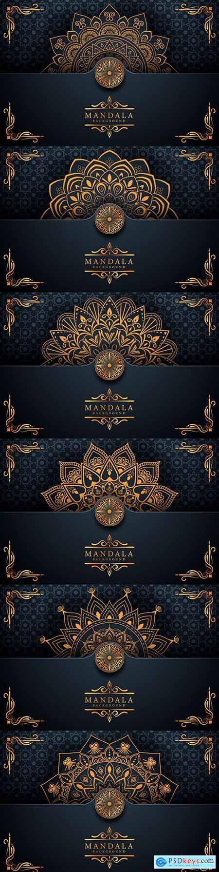 Creative luxury king mandala decorative background