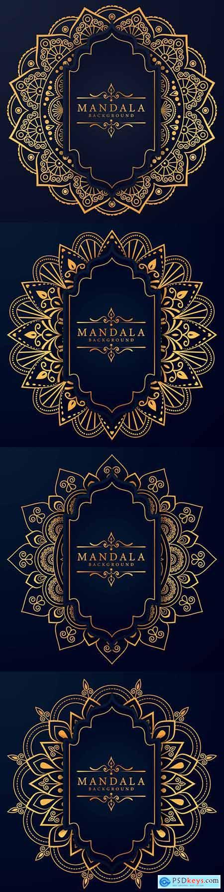 Mandala creative luxury arabesky design background