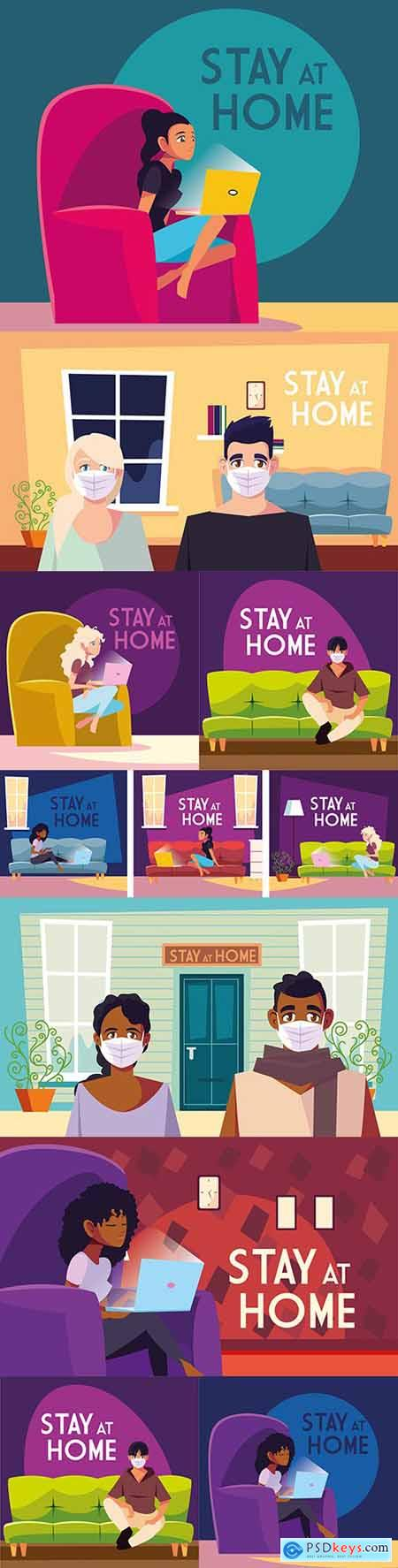 Staying at home on social media and preventing coronavirus