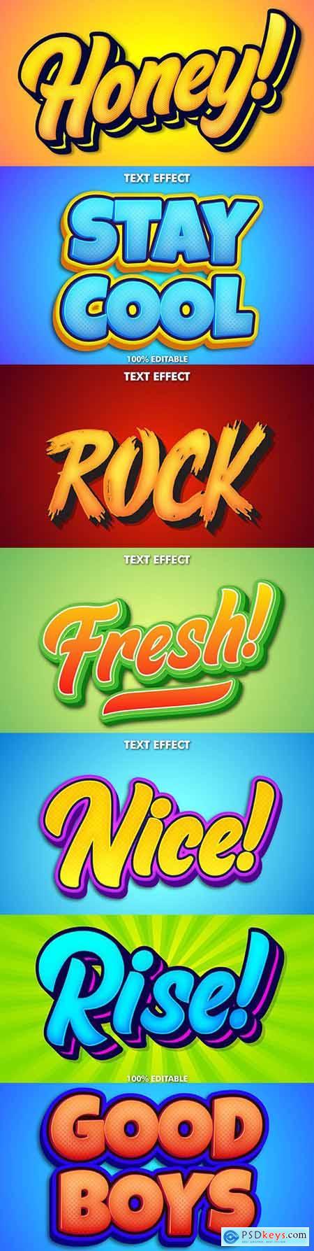 Editable font effect text collection illustration design 46