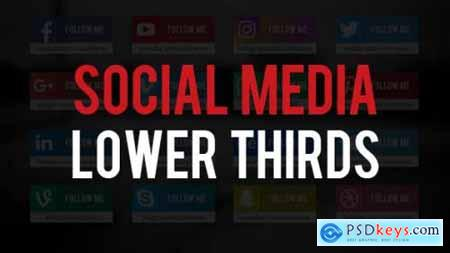 Social Media Lower Thirds 19820548
