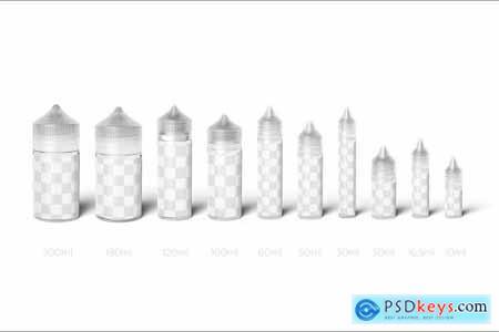All Sizes Vape Dropper Bottle MockUp 4399892