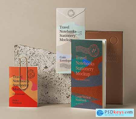 Travel Notebook Stationery Mockup 2