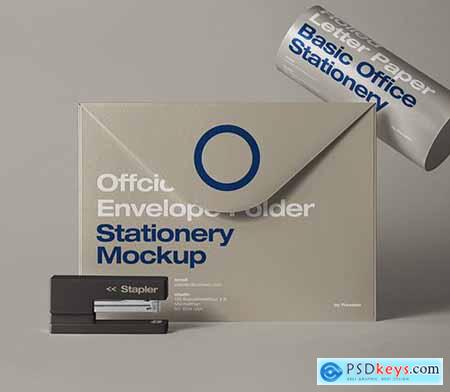 Envelope Folder Stationery Mockup