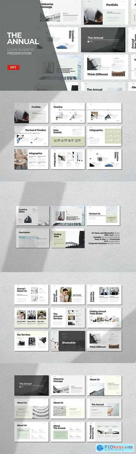 The Annual - Powerpoint, Keynote and Google Slide Template