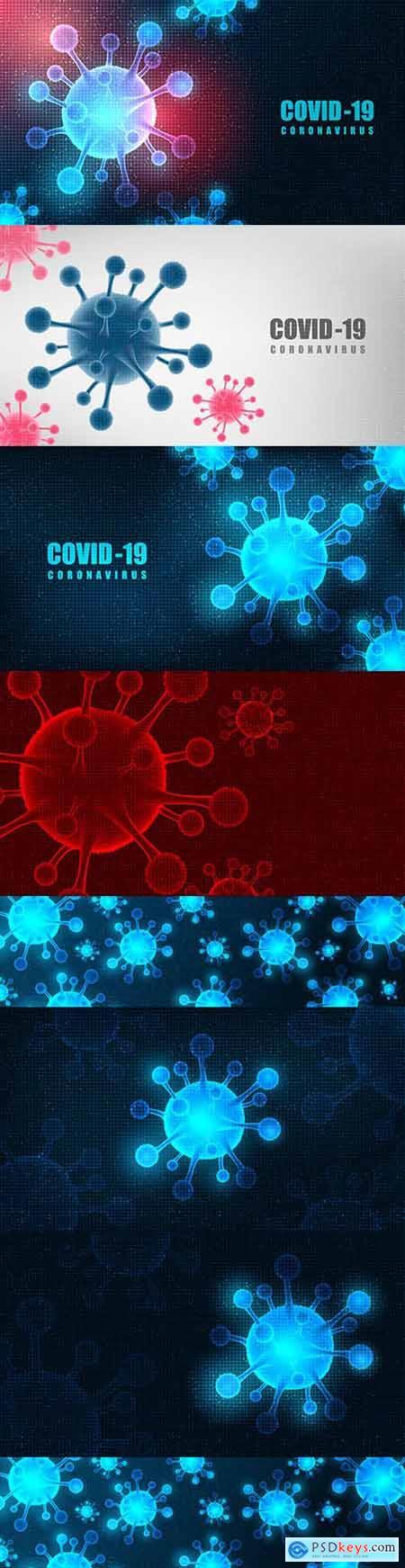Coronavirus futuristic background concept health care and microbiology