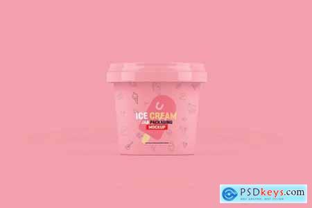 Ice Cream Jar Packaging Mockup 4179167