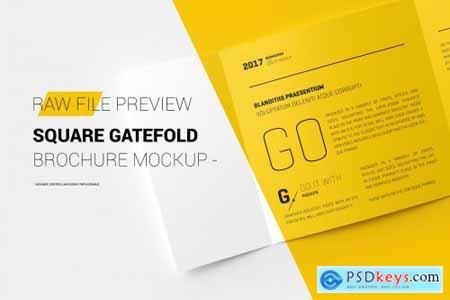 Square Gatefold Brochure Mockup 2811003