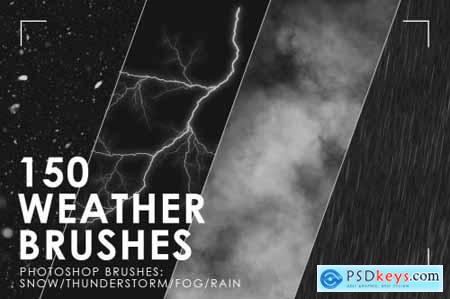 150 Weather Photoshop Brushes 3092149