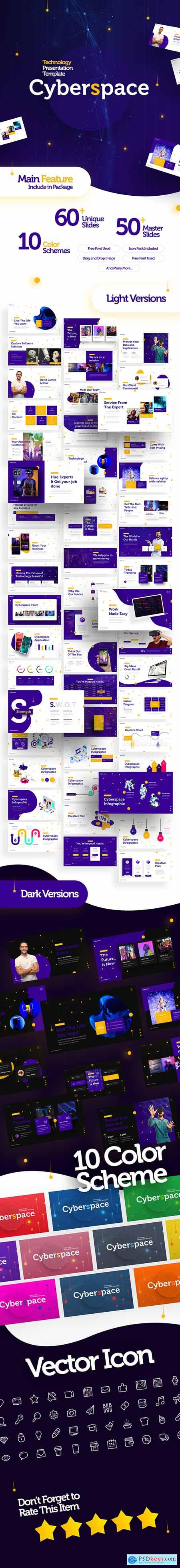 Cyberspace Technology PowerPoint Template 23979537