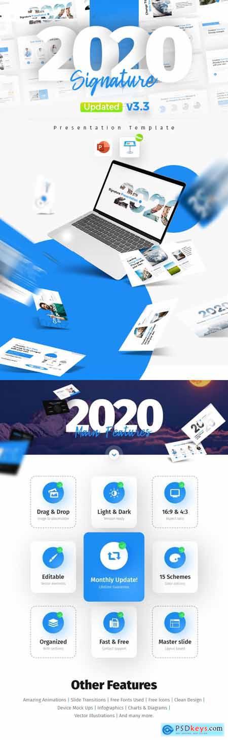 2020 Signature Multipurpose Premium PowerPoint Presentation Template 25442254