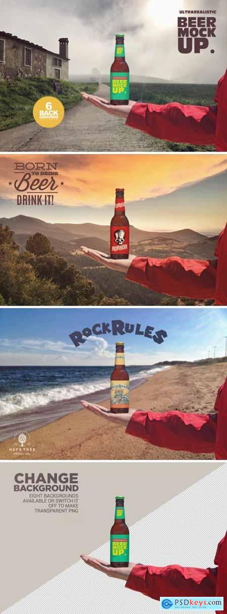 Outdoor Backgrounds Beer Mockup 3807150