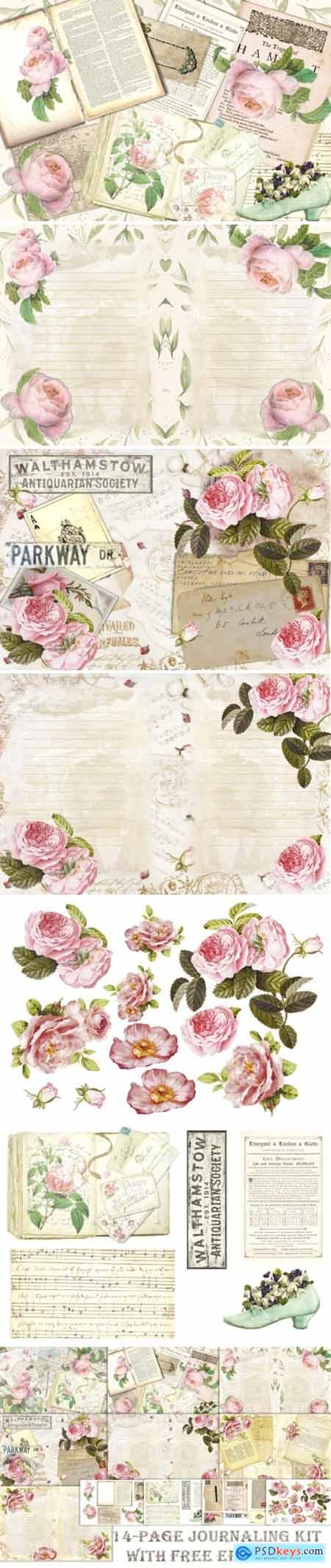 Romantic Roses Backgrounds and Clipart 1629568
