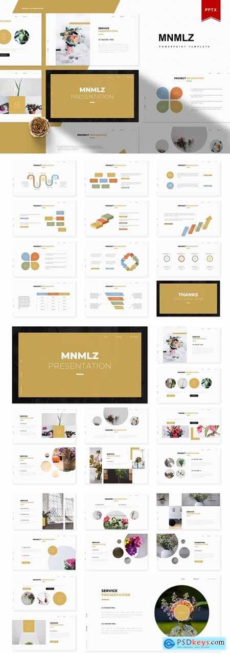 Mnmlz Powerpoint, Keynote and Google Slides Templates