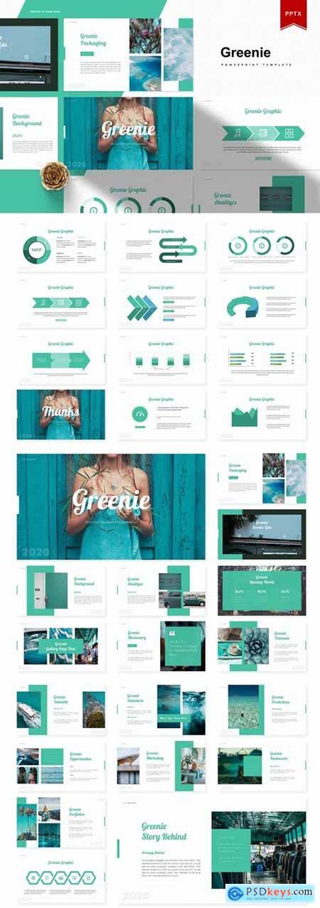Greenie Powerpoint, Keynote and Google Slides Templates