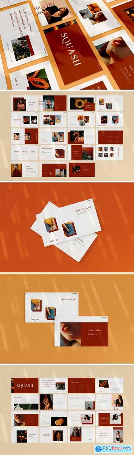 Squash Powerpoint, Keynote and Google Slides Templates