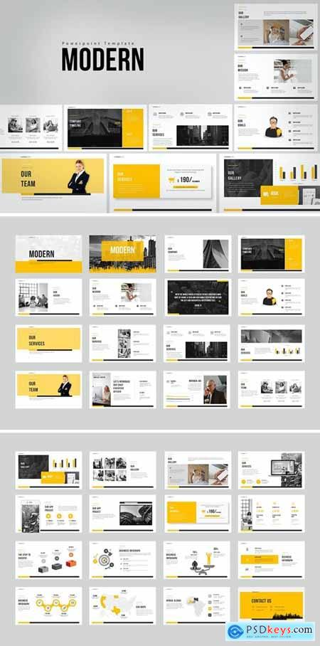 Modern Powerpoint, Keynote and Google Slides Templates