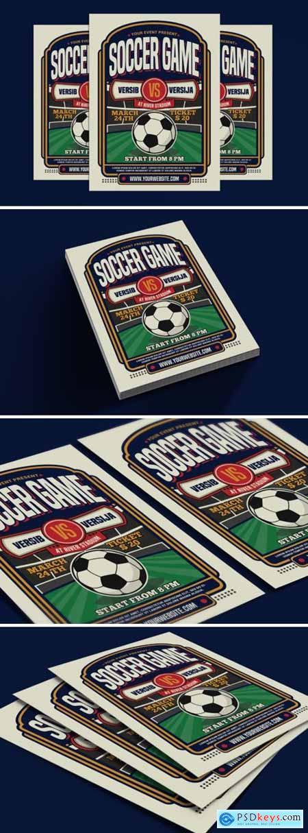 Soccer Game Sport Flyer 3786537
