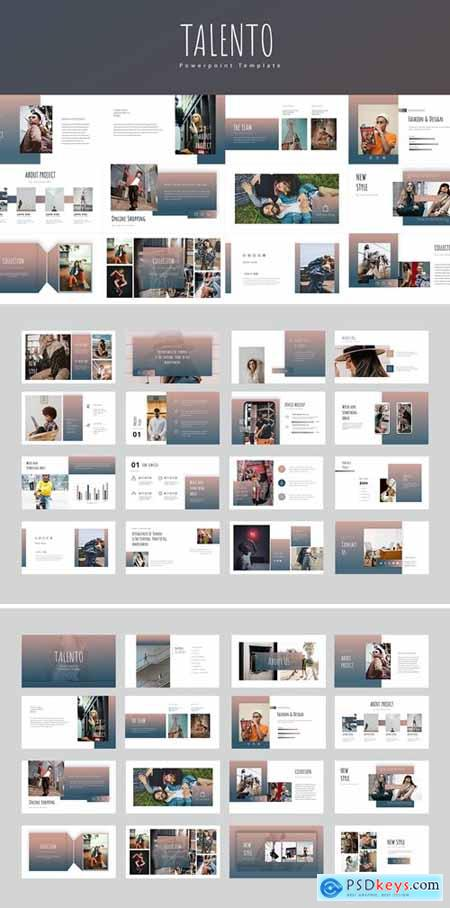Talento Powerpoint, Keynote and Google Slides Templates