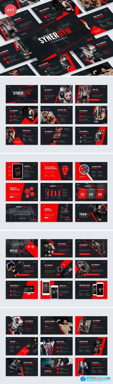 Synergym Presentation Powerpoint, Keynote and Google Slides Templates