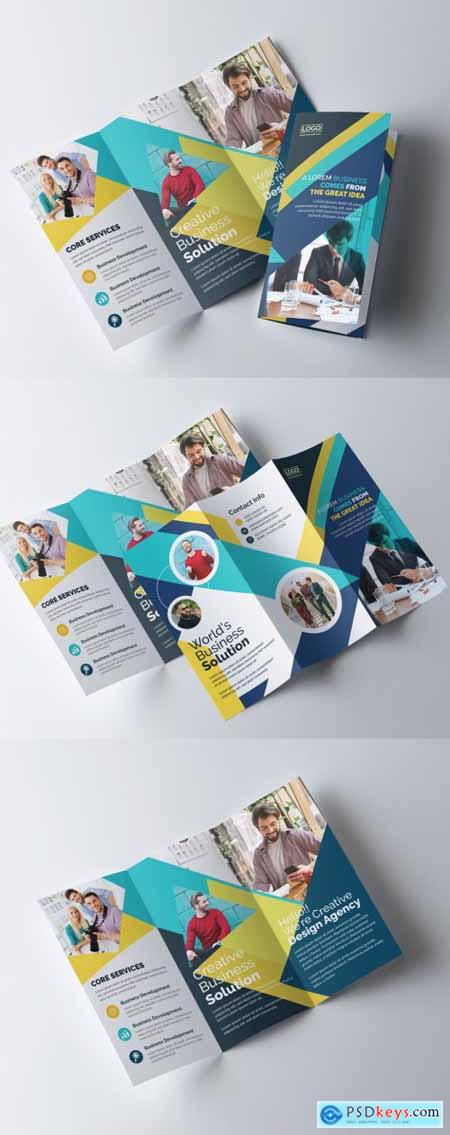 Colorful Tri-Fold Brochure Layout 335409877