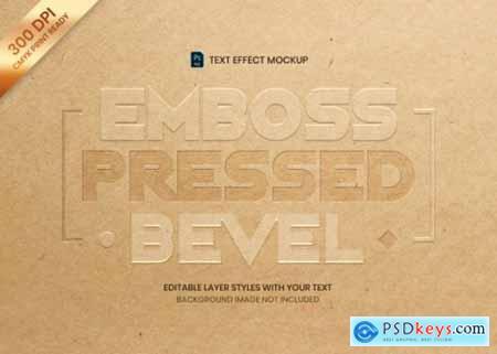 Text effect print templat