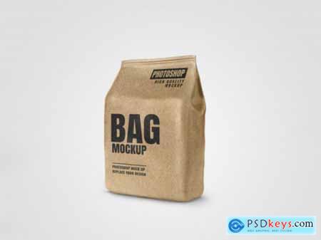 Craft paper bags mockup