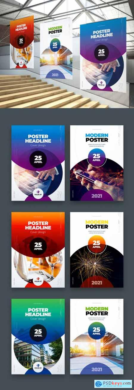 Business Poster Layout with Color Gradients 334853074