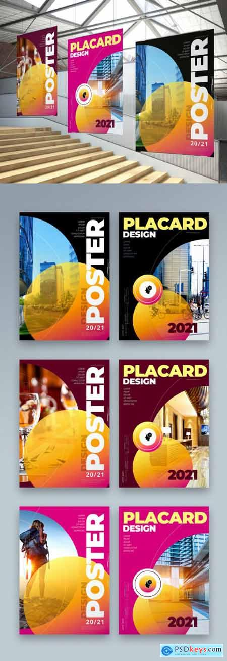 Business Poster Layout in Dark Colors 334853075