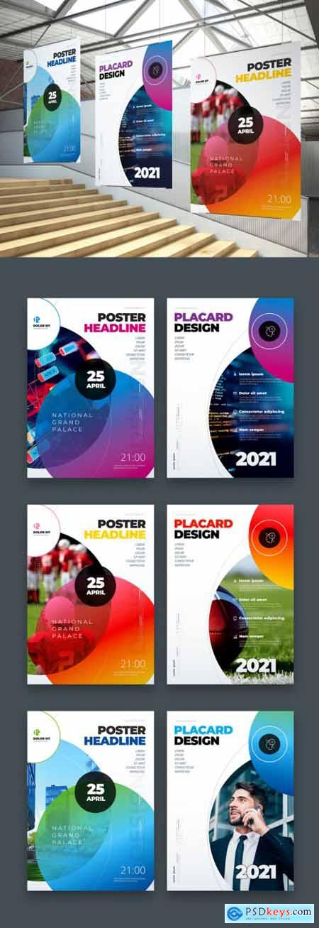 Poster Layout with Colored Circles 334852829