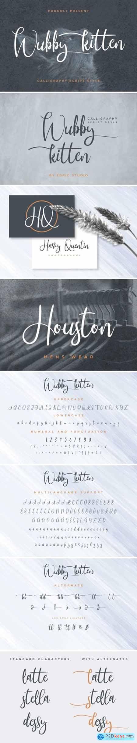 Wubby Kitten Font