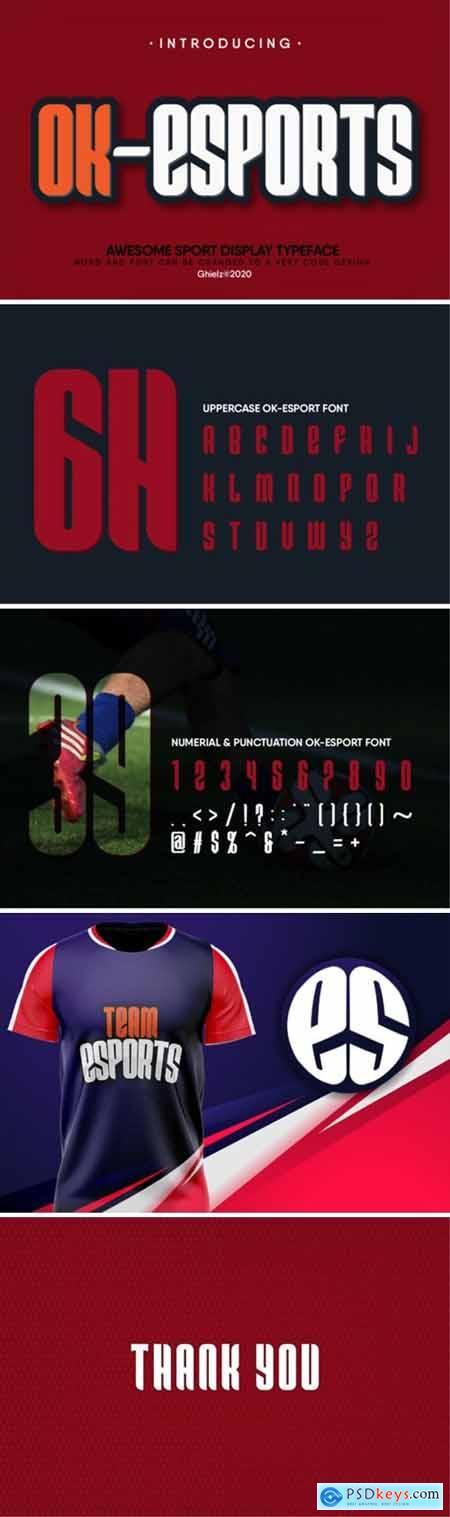 Ok-Esports Font