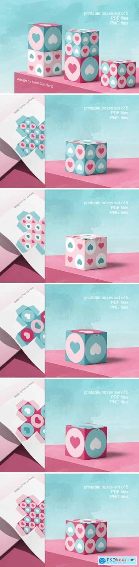 Printable Boxes for Valentine Gifts PDF 3783483