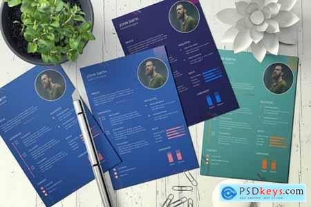 Professional resume design template