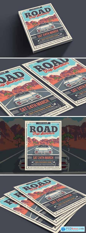 Road Trip Summer Flyer