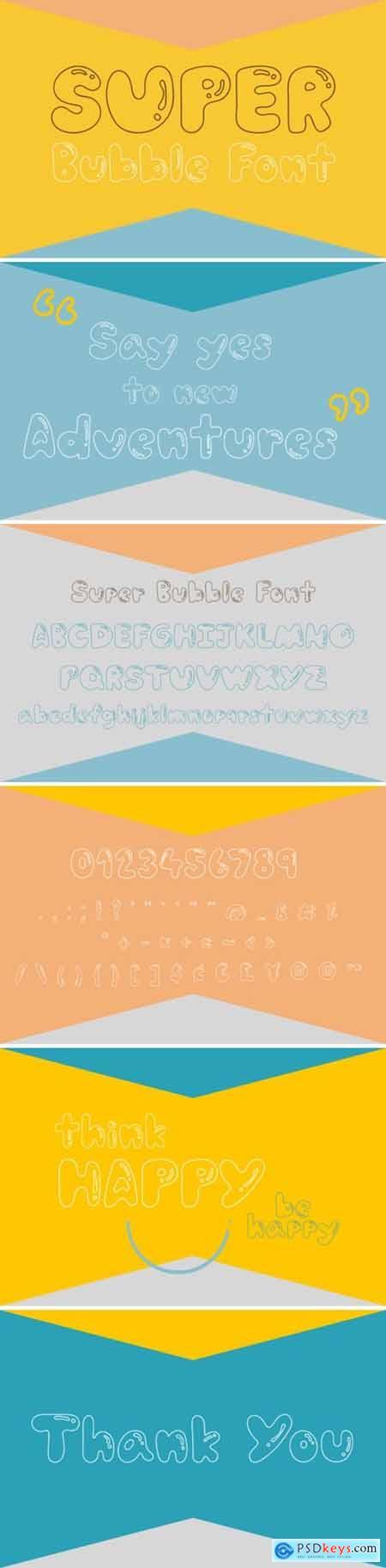 Super Bubble Font