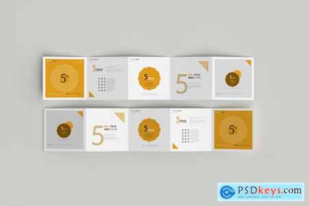 5-Fold Square Brochure Mockups 4749557