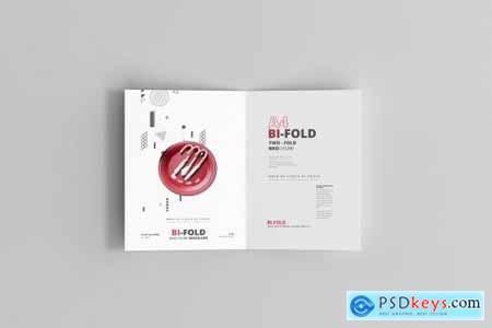 A4 Bi-Fold Brochure Mockups 4713388