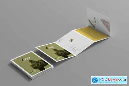 A4 Four Fold Brochure Mockups 4657765
